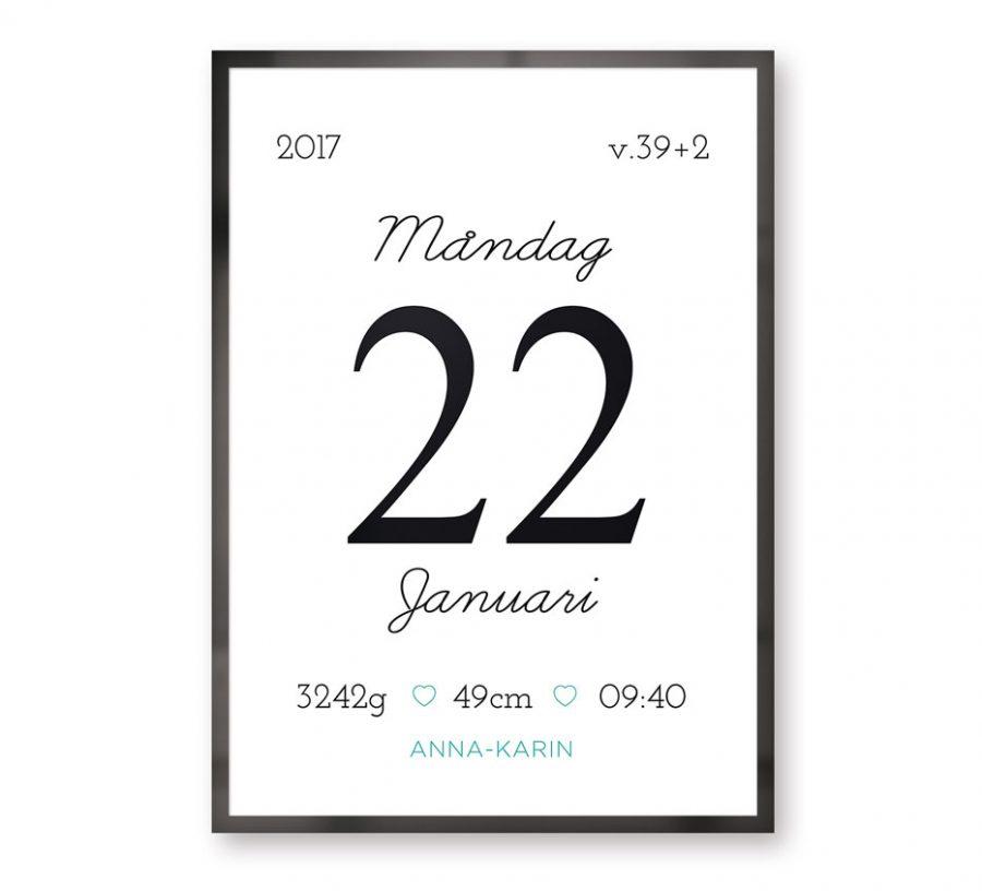 Datumposter Doppresent