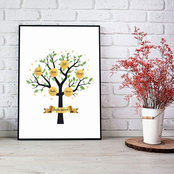 Familjeträd i guld