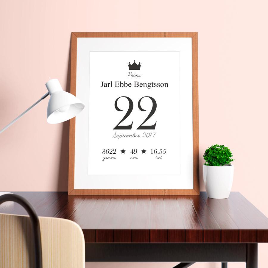 datumposter namntavlor-doptavla dop present namntavla